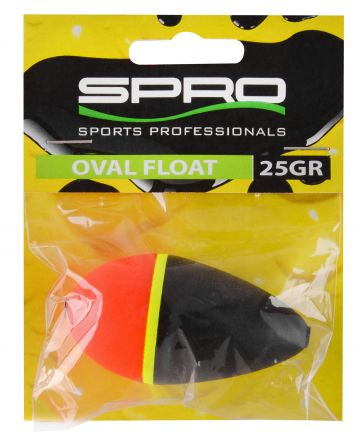 Predator Oval Float zwart - rood - geel roofvis visdobber 15g