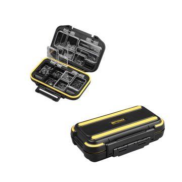 Predator Parts Stocker zwart - geel roofvis visdoos 11.2x7.5x3.2cm