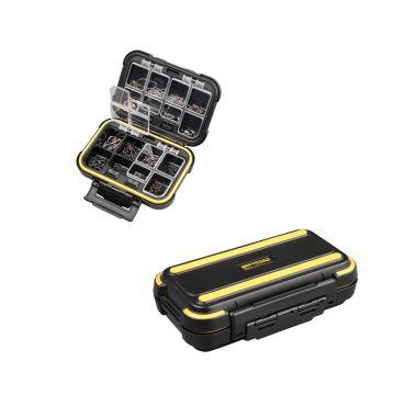 Predator Parts Stocker zwart - geel roofvis visdoos 12.5x9x5cm