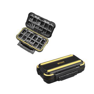 Predator Parts Stocker zwart - geel roofvis visdoos 16x9.5x4.7cm