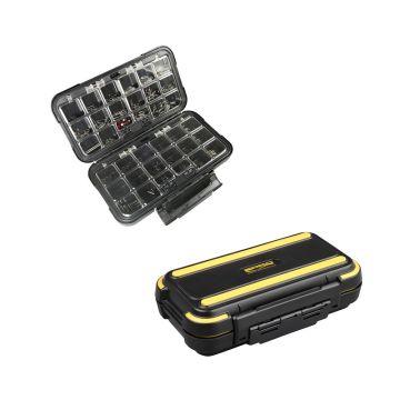 Predator Parts Stocker zwart - geel roofvis visdoos 19.7x11.5x5cm