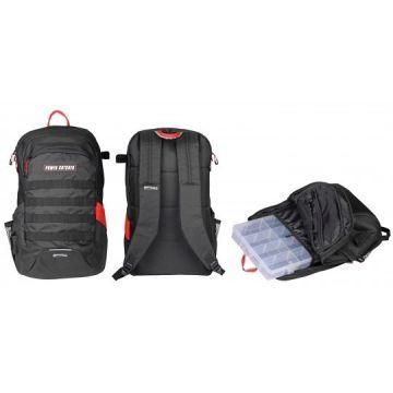 Predator Powercatcher Backpack zwart - clear - rood roofvis roofvistas