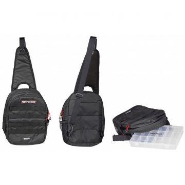 Predator Powercatcher Sling Bag zwart - clear - rood roofvis roofvistas