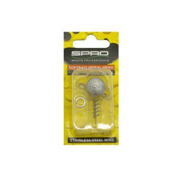 Predator Spiral Head zilver loodkop 10g