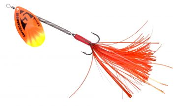 Predator SuperCharged Unweighted Spinners orange vislepel 16cm 9g H2