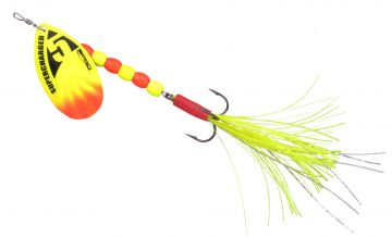 Predator SuperCharged Weighted Spinners yellow vislepel 16cm 14g H2