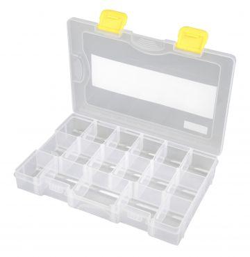 Predator Tackle Box 1000 transparant - geel roofvis visdoos 28x18.5x4.5cm