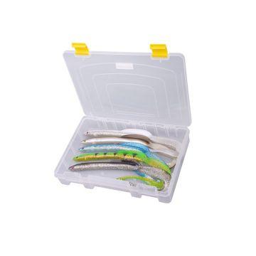 Predator Tackle Box 1100 transparant - geel roofvis visdoos 28x20x4.5cm
