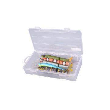 Predator Tackle Box 1200 transparant - geel roofvis visdoos 23x12x4.2cm