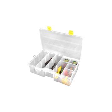 Predator Tackle Box 2200 transparant - geel roofvis visdoos 35.5x23x10cm
