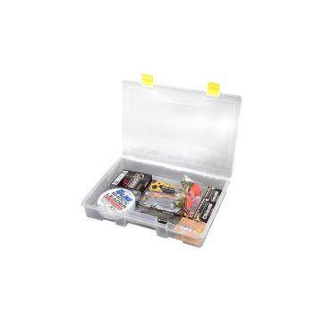 Predator Tackle Box 2300 transparant - geel roofvis visdoos 35.5x25x5.5cm