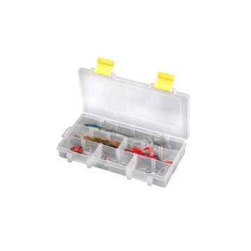 Predator Tackle Box 2400 transparant - geel roofvis visdoos 23x12.5x3.4cm