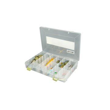 Predator Tackle Box 500 transparant - geel roofvis visdoos 27.5x18x4.5cm