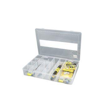 Predator Tackle Box 700 transparant - geel roofvis visdoos 31.5x21.5x5cm
