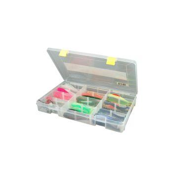 Predator Tackle Box 800 transparant - geel roofvis visdoos 35.5x22x5cm