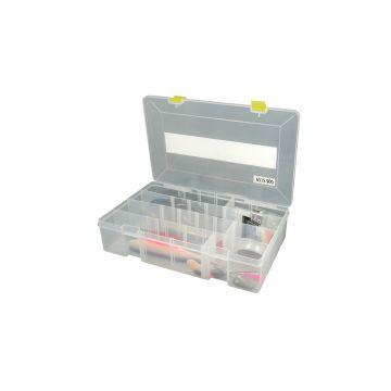 Predator Tackle Box 900 transparant - geel roofvis visdoos 35.5x22x8cm