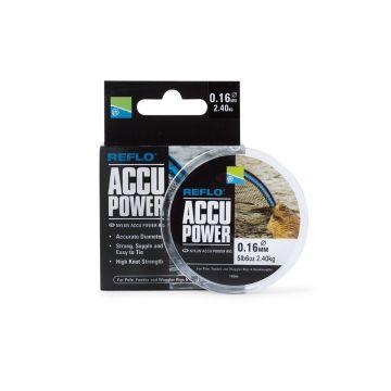 Preston Innovations Accu Power clear visdraad 0.18mm-0.32mm 5x15m