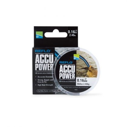 Preston Innovations Accu Power clear visdraad 0.20mm 100m