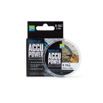 Preston Innovations Accu Power clear visdraad 0.18mm 100m
