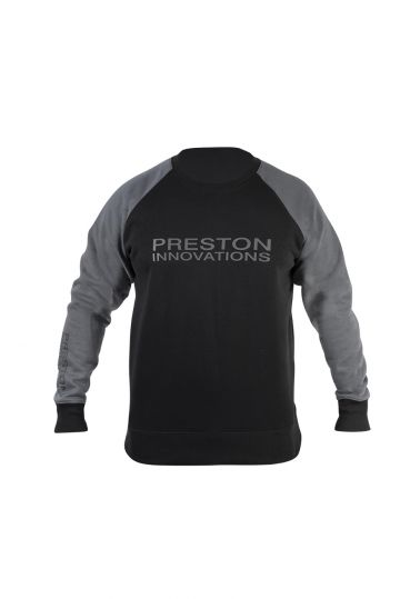 Preston Innovations Black Sweatshirt zwart - grijs vistrui Large