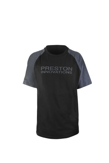 Preston Innovations Black T-Shirt zwart - grijs vis t-shirt Large