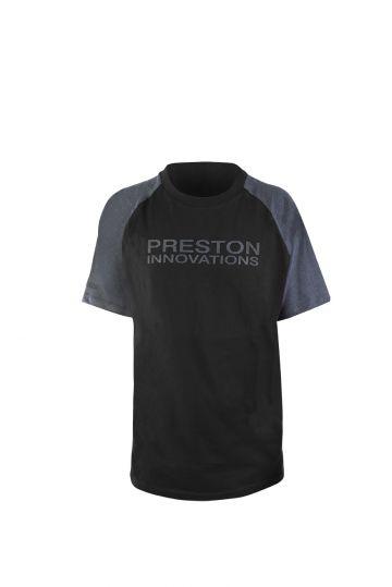 Preston Innovations Black T-Shirt zwart - grijs vis t-shirt Medium