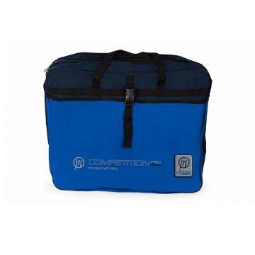 Preston Innovations Competition Pro Double Net Bag zwart - blauw foreltas witvistas