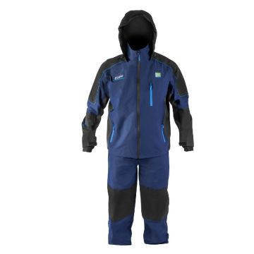 Preston Innovations DF Competition Suit blauw - zwart visjas X-large