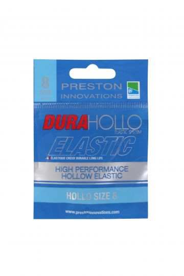 Preston Innovations Dura Hollo Elastic blauw witvis viselastiek Size 8 3m