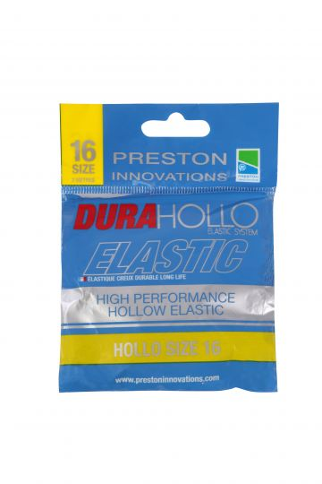Preston Innovations Dura Hollo Elastic geel witvis viselastiek Size 16 3m