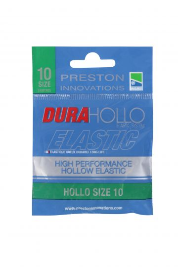 Preston Innovations Dura Hollo Elastic groen witvis viselastiek Size 10 3m