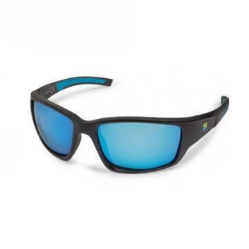 Preston Innovations Floater Pro Polarised Sunglasses noir - bleu