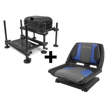 Preston Innovations Inception + 360° Seat COMBO zwart witvis visbak
