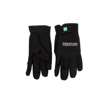 Preston Innovations Neoprene Gloves zwart handschoen L/xl
