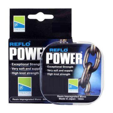 Preston Innovations Reflo Power clear visdraad 0.21mm 100m 4.062kg