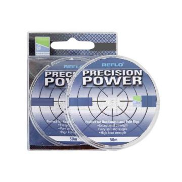 Preston Innovations Reflo Precision Power clear visdraad 0.10mm 50m 1.100kg