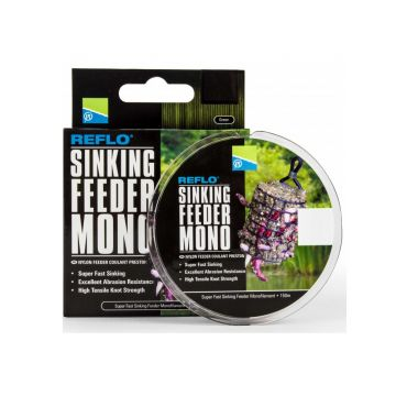 Preston Innovations Reflo Sinking Feeder Mono bruin visdraad 0.18mm 150m