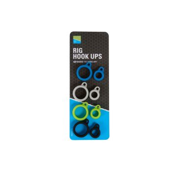 Preston Innovations Rig Hook Ups 4-kleuren klein vismateriaal