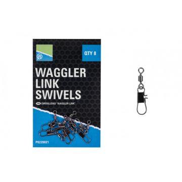 Preston Innovations Waggler Link Swivels nickel klein vismateriaal