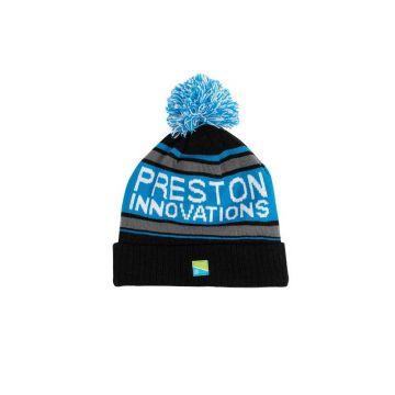 Preston Innovations Waterproof Bobble Hat zwart - blauw muts Uni