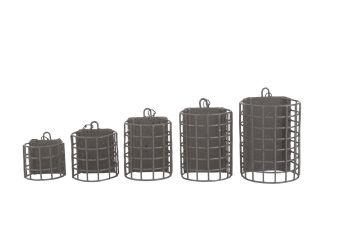 Preston Innovations Wire Cage Feeder bruin - zwart witvis voerkorf Large 60g