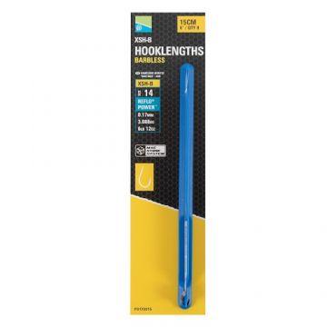 Preston Innovations XSH-B Spade End Mag Store Hooklengths clear - nickel witvis witvis onderlijn H14 15cm 0.17mm