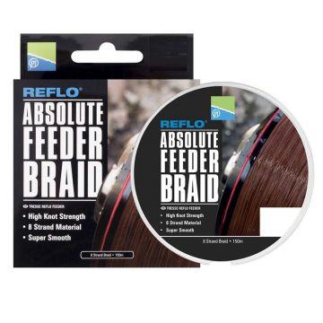 Prestoninno Absolute Feeder Braid bruin gevlochten visdraad 0.12mm 150m
