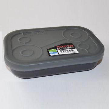 Prestoninno Bait Tubs zwart - clear madendoos 0.50pt