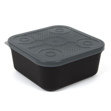 Prestoninno Bait Tubs zwart - clear madendoos 2.00pt