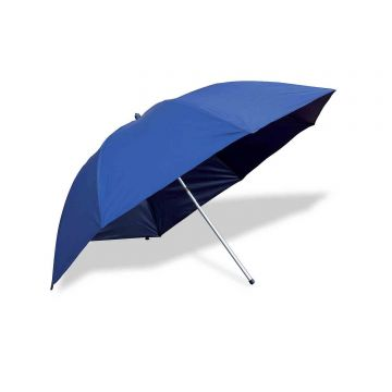 Flat Back Brolly With Zips blauw