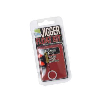 Prestoninno Jigger Float Kit zwart - rood witvis visdobber 4-6mm