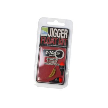 Prestoninno Jigger Float Kit zwart - rood witvis visdobber 8-10mm