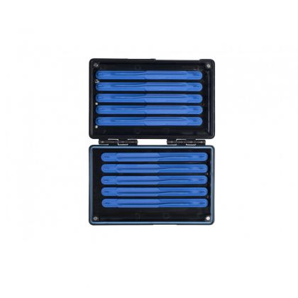 Prestoninno Mag Store System Hooklength Box zwart - blauw visdoos 10cm