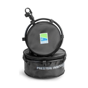 Prestoninno Offbox 36 Groundbait Bowl & Hoop zwart - blauw witvis  Large